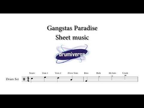 Gangstas Paradise by Coolio - Drum Score (Request #59)