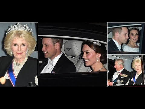 Pregnant Kate Middleton Wears Princess Diana's Tiara with Camilla attend Diplomatic Reception