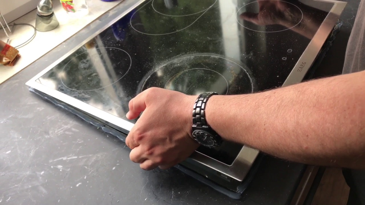 Ceranfeld mit Silikon abdichten Kochfeld in transparentes ...