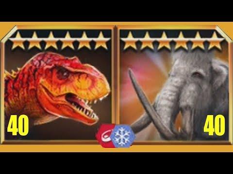 TYRANNOSAURUS REX Vs WOOLLY MAMMOTH - Jurassic World The Game