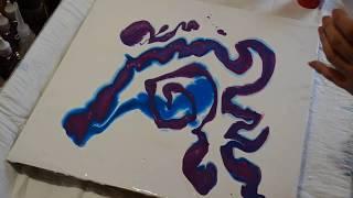 Акриловая заливка. Паутина или крылья бабочек? fluid art