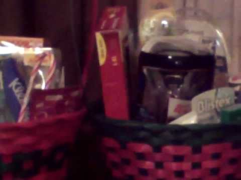 Christmas Gift Basket with Couponing Items