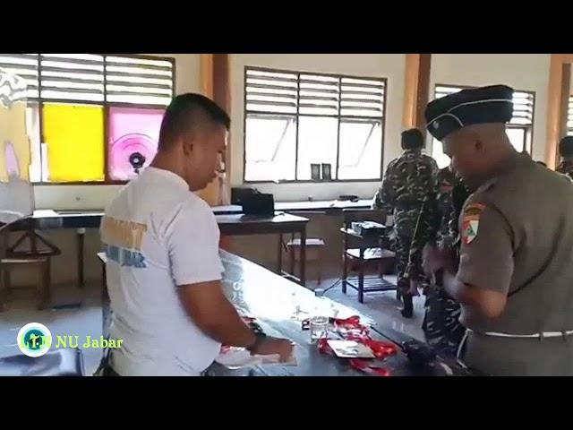 Checking Peserta dan Cara unik Banser Menyambut Pemateri Kursus Banser Lanjutan Angkatan I Subang