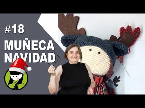 Accesorios del gorrito de la muñeca navideña 18 amigrumumis de navidad