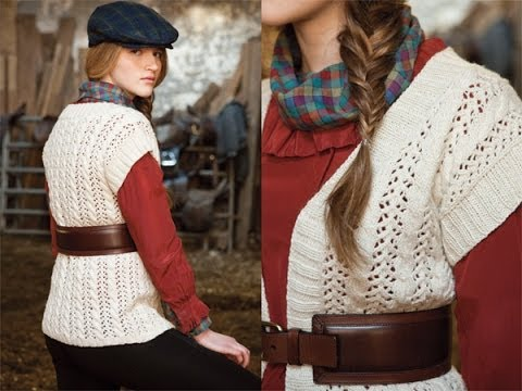 #14 Cables and Lace Vest, Vogue Knitting Early Fall 2010