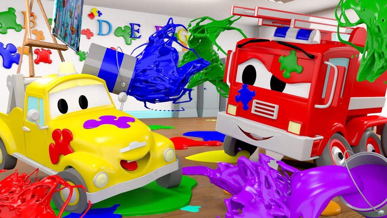 die kleinen autos in car city die farbenschlacht lastwagen zeichentrickfilme f r kinder. Black Bedroom Furniture Sets. Home Design Ideas