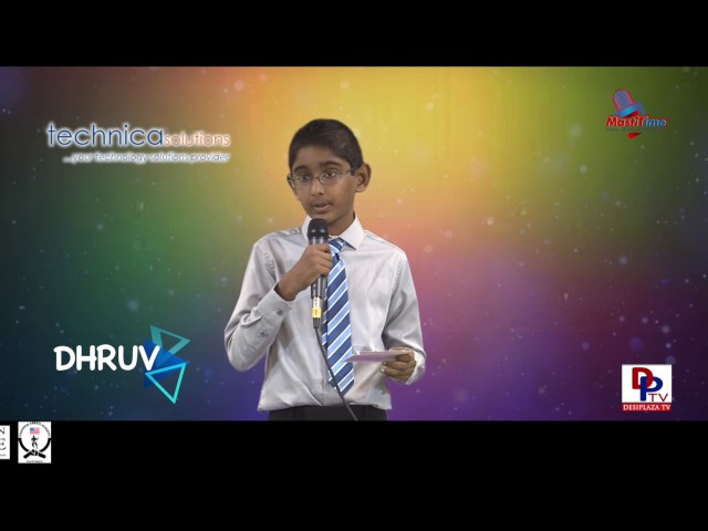 "Dhruv speaking about ""Importance of Recycling"" in Talking Bee - Public Speaking competitions 2016"