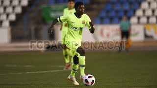Moussa Wagué vs. Figueres ● Barcelona B ● Pretemporada 2018/19