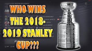 Who Will Win The 2019 Stanley Cup According to NHL 19