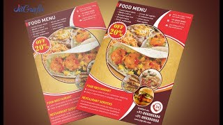 Corel Draw x7 Tutorials | Modern Flyers Brochure Design Templates | Food Flyer/Poster Design