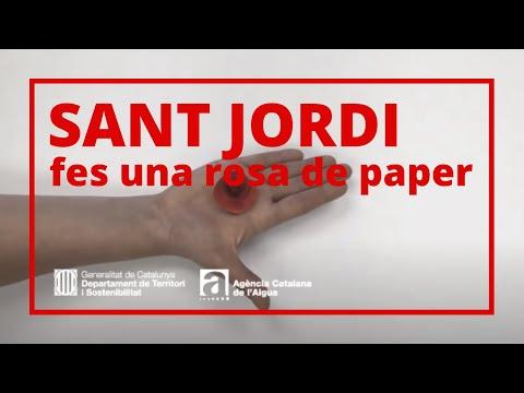 Per celebrar la Diada de Sant Jordi us proposem fer una rosa de paper.