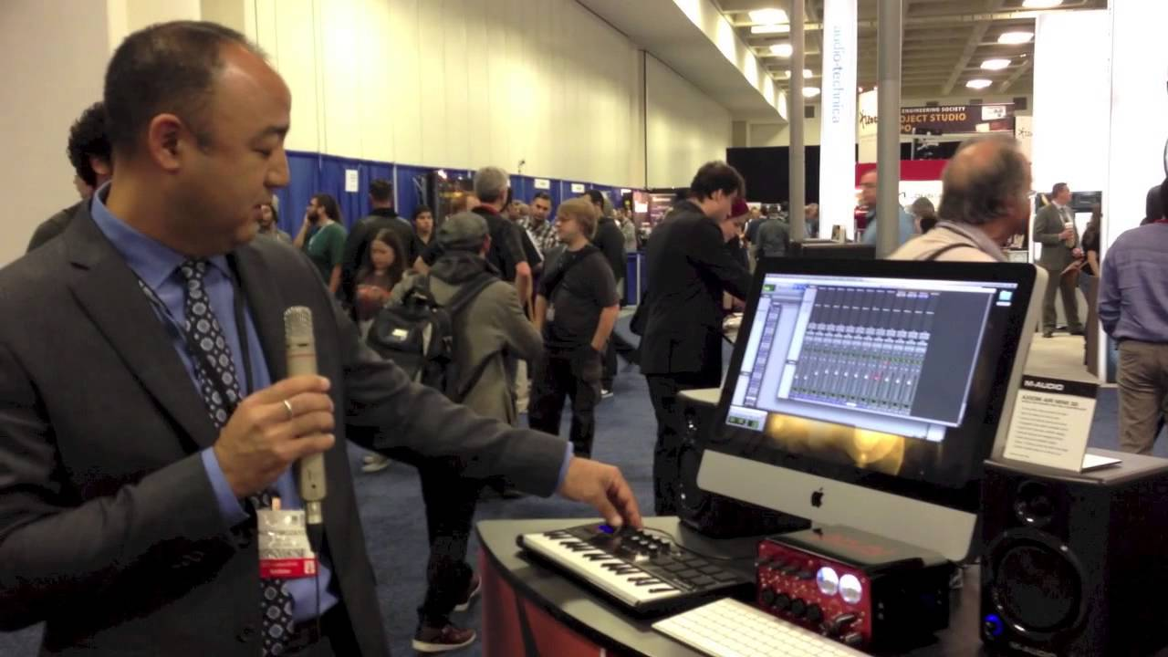 m audio axiom a i r mini 32 and ignite from air music technology demoed at aes 2012 youtube. Black Bedroom Furniture Sets. Home Design Ideas