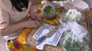 275. Видео урок. Как я готовлю впрок зеленушку - лук, перо чеснока.