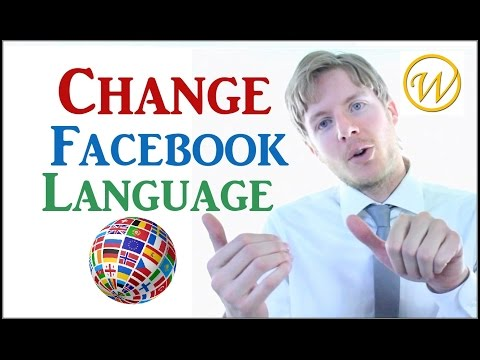How to change Language on Facebook to...