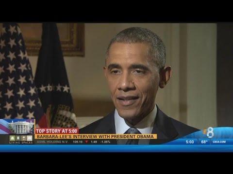 Barbara-Lee Edwards interviews President Obama