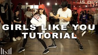 GIRLS LIKE YOU - Maroon 5 ft. Cardi B Dance Tutorial | Matt Steffanina Choreography