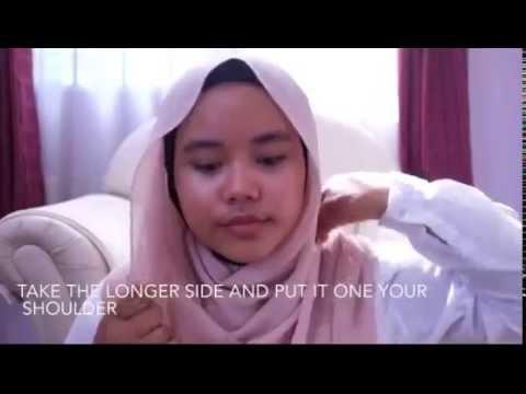 5 tutorial hijab pashmina sifon yang simple,cepat dan tidak ribet.