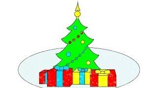 Раскраска из Мультфильма - Новый Год, Снеговик и Дед Мороз