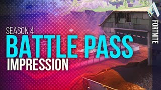 Fortnite SEASON 4 ALL BATTLE PASS REWARDS *FIRST IMPRESSIONS* | Fortnite Battle Royale