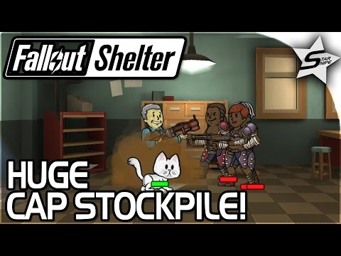 HUGE CAP STOCKPILE INBOUND! - Fallout Shelter Gameplay Part 6 PC