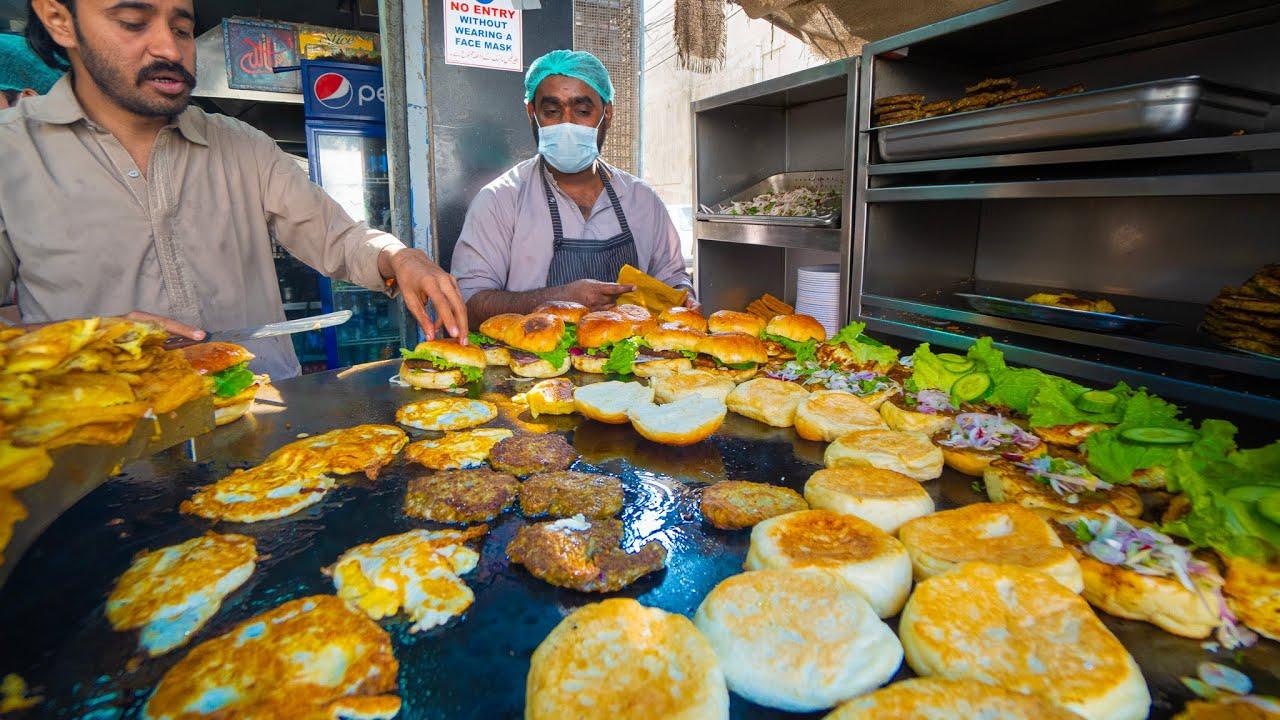 Street Food in Pakistan - KARACHI'S #1 SUPER BURGER + BIRYANI!! Non-Stop STREET FOOD in Karachi!