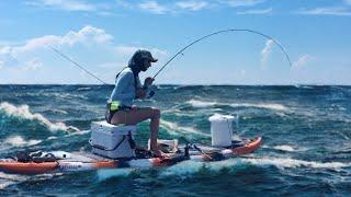 Deep Sea Kayak Fishing ACTION!