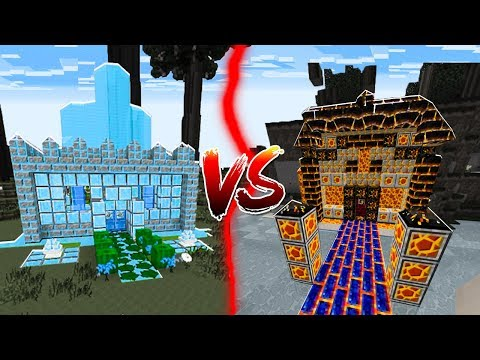 WATER HOUSE VS LAVA HOUSE IN MINECRAFT!