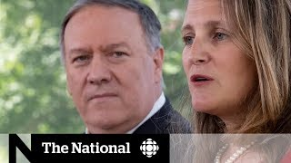 Pompeo attacks China for detaining 2 Canadians during Ottawa visit