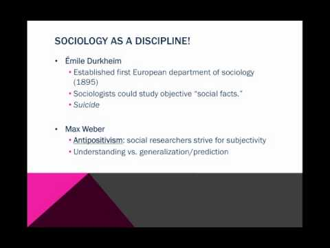 Intro to Soc Week 1: Sociological History!
