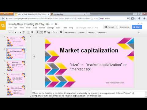 Intro to Basic Investing Ch. 2:  Market Cap