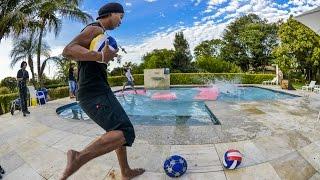 Ronaldinho Kicking The Ball At People