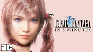 ENTIRE Final Fantasy Chronology in 3 Minutes! (Final Fantasy Animation)