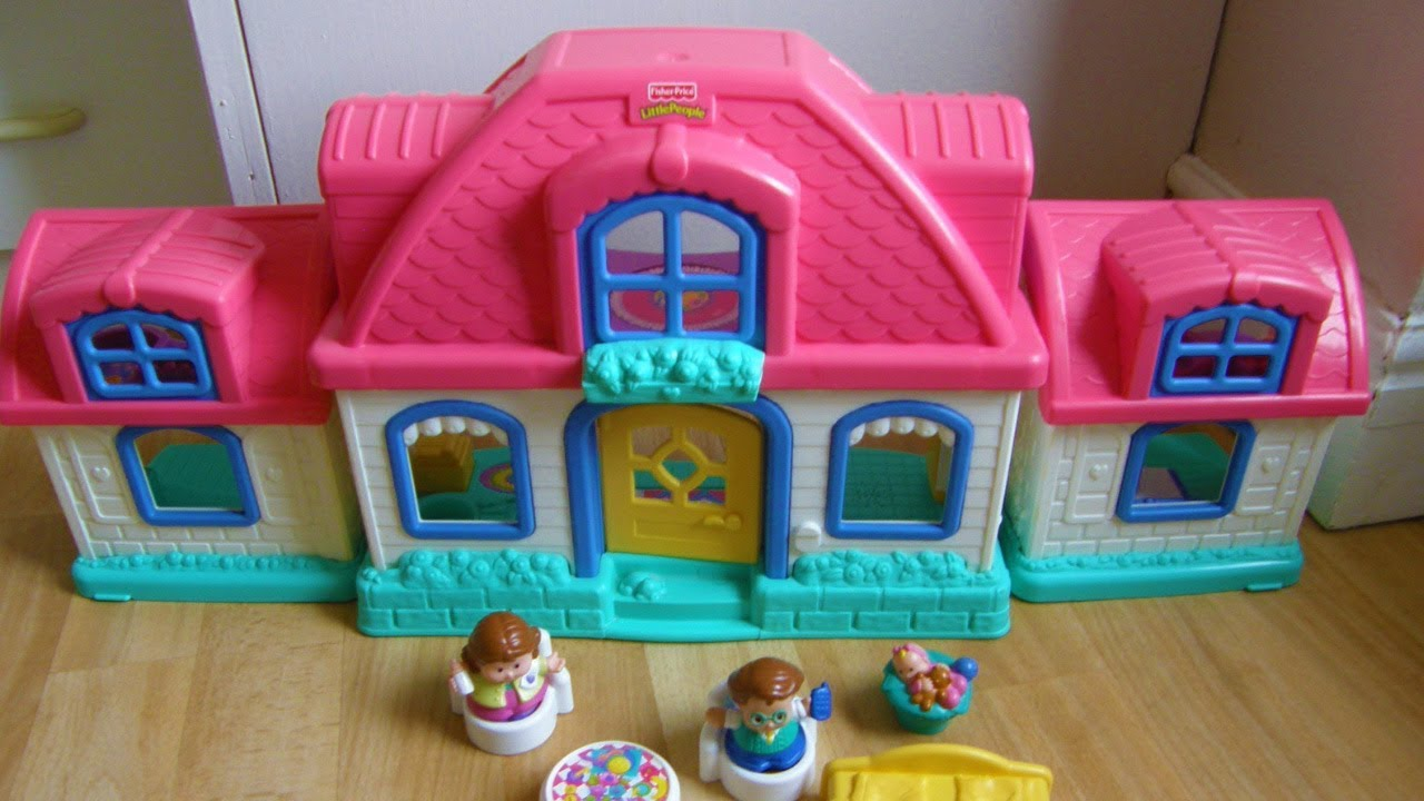 Fisher Price Little People Sweet Sounds Homepink Dolls House