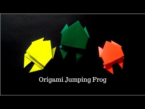How To Make Paper Jumping Frog | Origami Frog | InnoVatioNizer