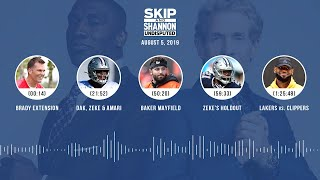 UNDISPUTED Audio Podcast (08.05.19) with Skip Bayless, Shannon Sharpe & Jenny Taft | UNDISPUTED