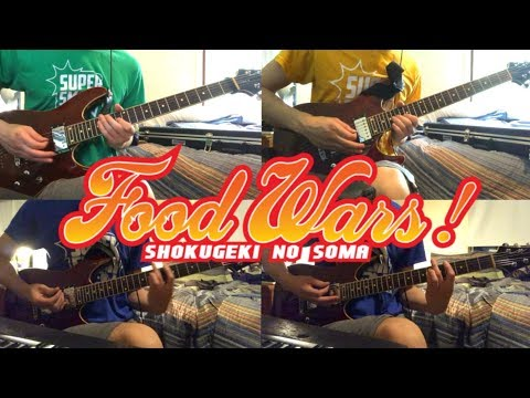 Food Wars!: Shokugeki No Soma S2 OP - SCREEN Mode - Rough Diamonds Full Guitar Cover + Solo And Tabs