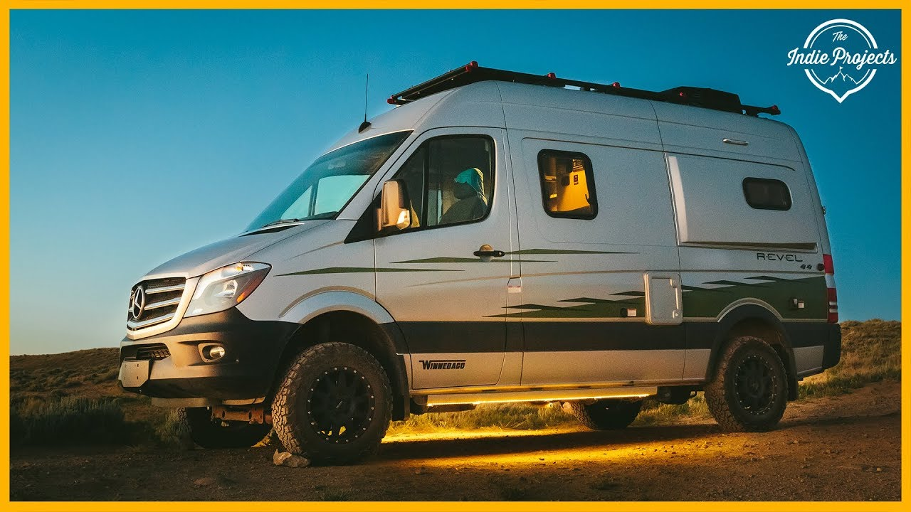150 000 Winnebago Revel 4x4 Sprinter Van Tour Youtube