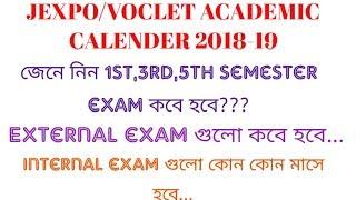 JEXPO/VOCLET ACADEMIC CALENDAR 2018-19 || EXAM DATE OF SEMESTER