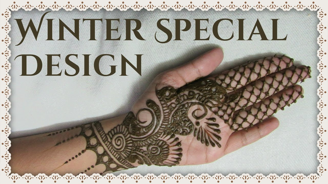 Easy Mehndi Ideas : Winter special mehndi design simple and easy designs
