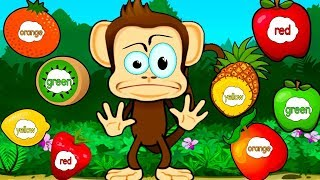 Babys Learn Colors Numbers Shapes with Monkey Preschool Lunchbox -Educational Game for Toddlers