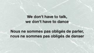 We Don't Have To Dance - Andy Black Lyrics English/Français