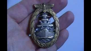 WWII Nazi German Navy High Seas Fleet War Badge Medal Award