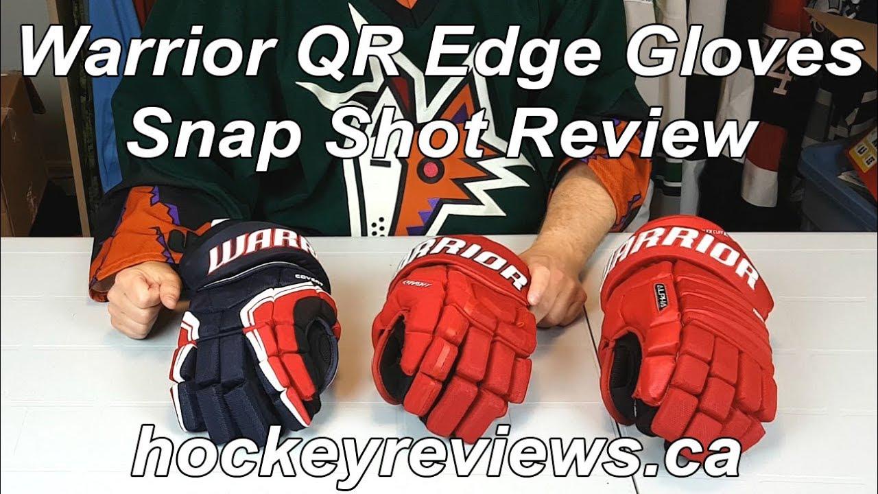 Warrior Covert QR Edge Gloves Snap Shot Review - YouTube