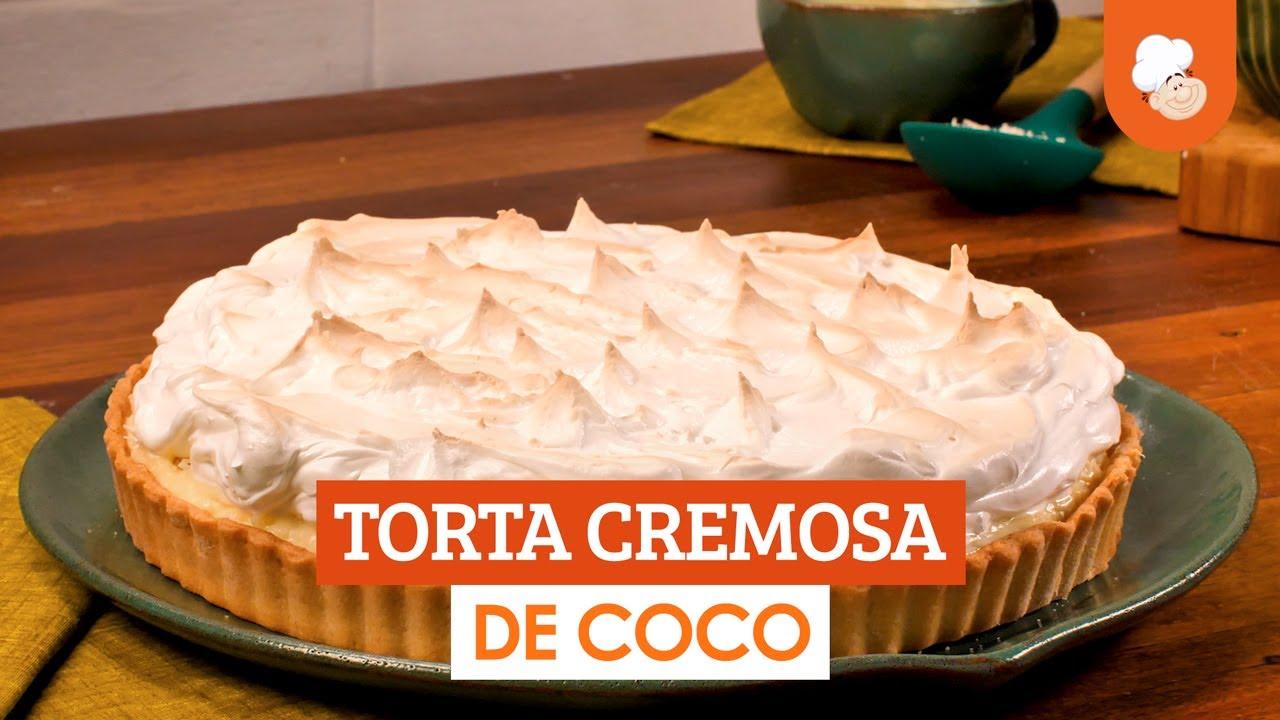 Torta cremosa de coco — Receitas TudoGosotoso