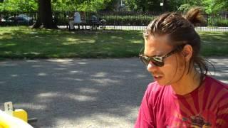 jon solo in mccarren park, brooklyn performs