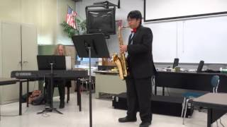Yakety Sax, William Ong, 15 Years Old, Tenor Saxophone, IHSA Solo Ensemble Contest 2016