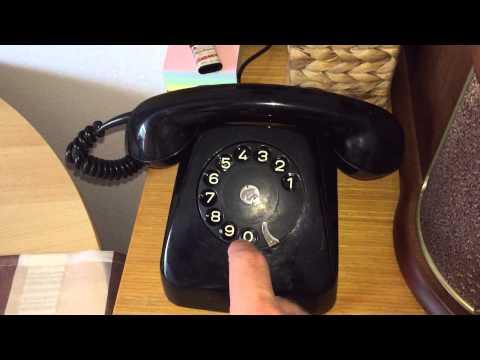 Retro Vintage Telefon von Schrack 1971