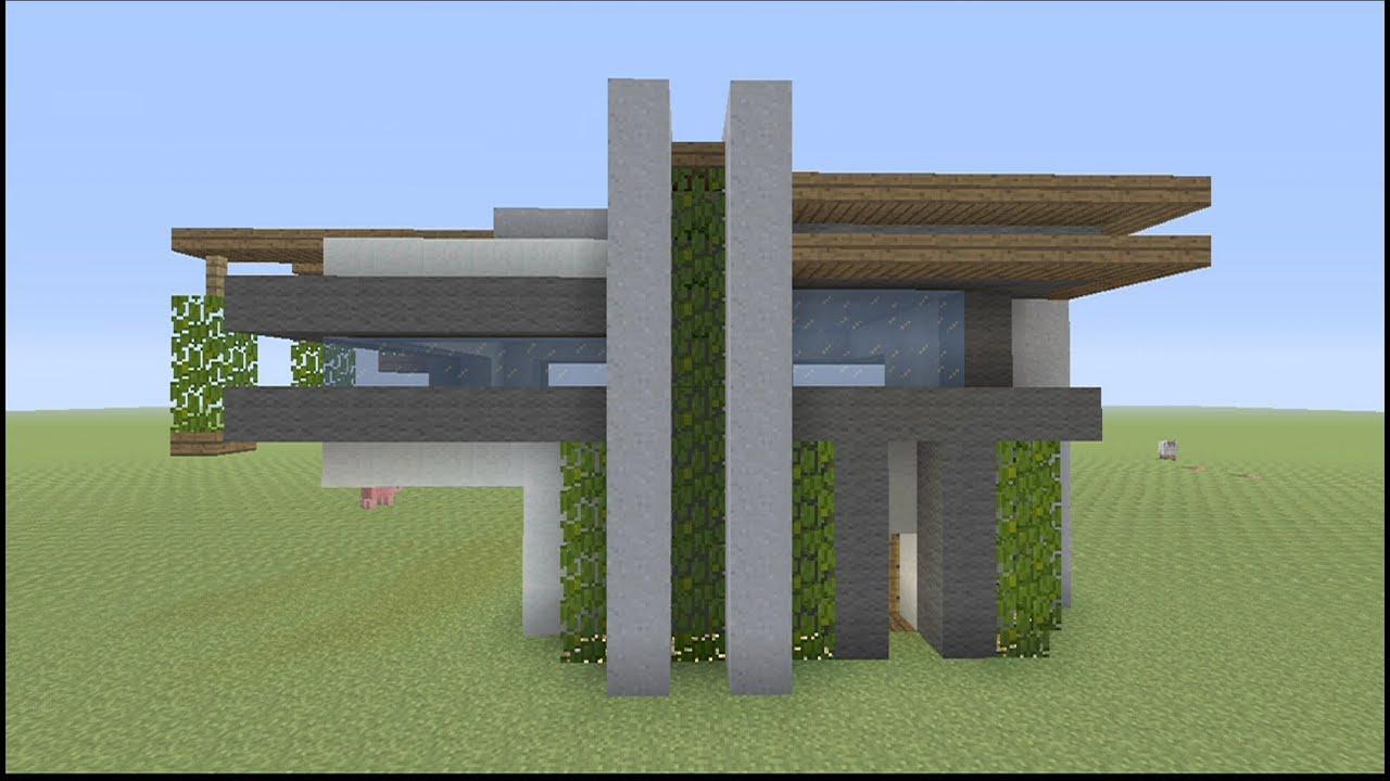 Small Modern House Minecraft Build