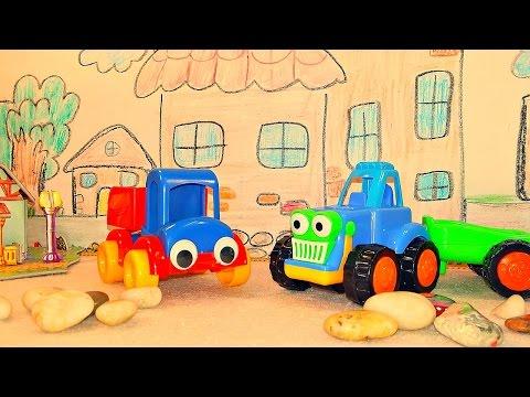 Развивающее видео. Сказка про дружбу. Лучший друг трактора. Игры машинки.