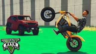 GTA V Online: MOTO vs CARROS - O PILOTO de FUGA 100%